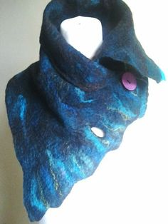Items similar to Wool felted scarf Blue felted scarf merino wool scarf winter scarf winter accessories scarves on Etsy Nuno Felt Scarf, Wool Scarf, Felted Scarf, Needle Felted, Nuno Felting, Needle Felting Tutorials, Vintage Scarf, Vintage Hats, How To Wear Scarves
