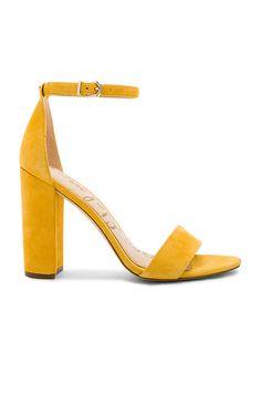 a0110c54b8144e SAM EDELMAN YARO HEEL.  samedelman  shoes   Yellow Shoes Heels