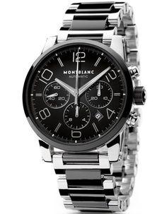 ff5f95cf64f Montblanc TimeWalker Chronograph Automatic watch Relogios Masculinos Prata