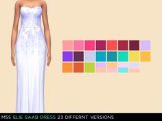 Grace Dress by midnightskysims at TSR via Sims 4 Updates
