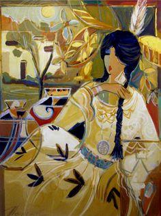 ART GALLERY GALLERIES SANTA FE ABSTRACT MODERN INDIAN ART