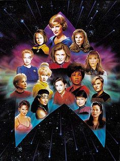 Lt. Uhura, Deanna Troi, Major Kira, and Seven of Nine. They are the Women of Star Trek join them on a celebration of 50 years of Star Trek as they boldy go where no women has gone before at  http://tomatovisiontv.wix.com/tomatovision2#!classic-tv/c1ifk