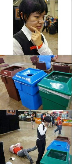 Tokyo Ghoul cosplay. Haha Kaneki deciding what kind of trash Shuu is XD