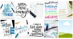 Hand Lettering for Beginners: There is a huge gap between where I am with hand lettering and where I want to be, find 10 pros to follow to bridge the gap!