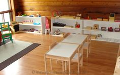 A Toddler Montessori Classroom might include....