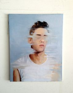 """Disappear"" 16x20"" oil on canvas omg, Looks like Xavier Dolan <3 <3 <3"