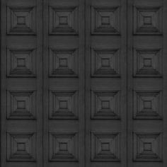 Charcoal Victorian Panelling Wallpaper by Young & Battaglia - House Junkie