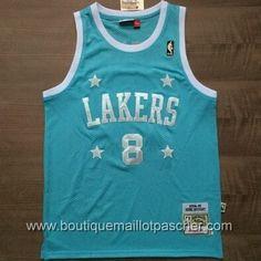 maillot nba pas cher Los Angeles Lakers Bryant #8 retro Bleu star mesh tissu 22,99€