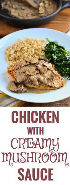 Slimming Eats Chicken in Creamy Mushroom Sauce - gluten free, dairy free, paleo, Whole30, Slimming World and Weight Watchers friendly