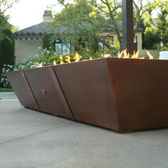 10' Copper Spartan Fire Pit Propane Fire Pit Kit, 20 Lb Propane Tank, Stainless Steel Welding, Stainless Steel Pans, Copper Fire Pit, Outdoor Lighting, Outdoor Decor, Fire Glass, Backyard