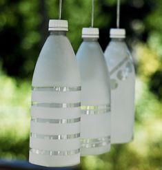 DIY Party Lights - made from recycling plastic water bottles