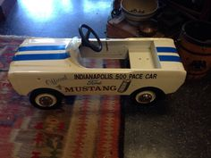 Antique Official Indy 500 Ford Mustang Pace Car Pedal Car SWEET 1 Of 109 Cars