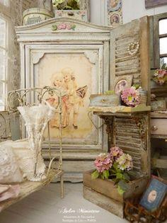 Painted Armoire Farmhouse Style