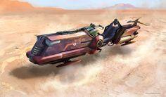 Hovercraft Vehicles by Miro Petrov on ArtStation. Futuristic Motorcycle, Futuristic Art, Star Wars Rpg, Star Wars Ships, Hover Bike, Arte Sci Fi, Star Wars Drawings, Star Wars Vehicles, Star Wars Concept Art