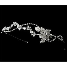Silver-Tone Rhodium Vintage Crystal Wedding Bridal Headband Tiara #wedding #bride #tiara #headband #giftidea