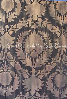 Wall Stencil | Silk Road Suzani Stencil | Royal Design Studio