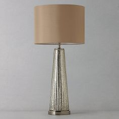 These would look great either end of your console table   Buy John Lewis Hannah Glass Table Lamp Online at johnlewis.com