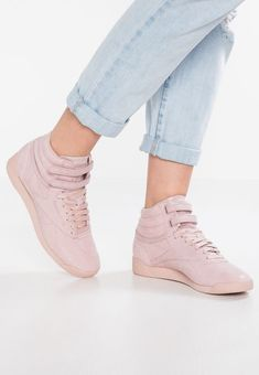 Reebok Classic FREESTYLE - High-top trainers - shell pink - Zalando.co.uk