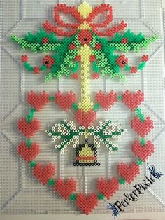 Holly Heart Wreath by PerlerPixie.deviantart.com on @DeviantArt