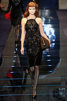 #versace #lovely #pretty #dress #pink #maxi #beauty #fashion #black #dark #cross