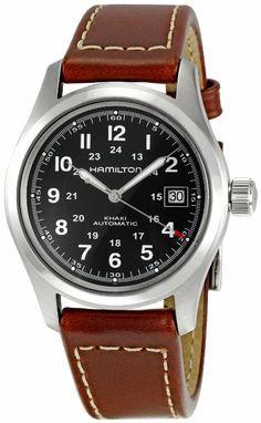 Hamilton Men's HML-H70455533 Khaki Field Black Dial Watch: Watches: Amazon.com