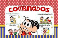 Combinados com a turma da Monica - DaniEducar Professor, Banner, Family Guy, Education, Comics, School, Fictional Characters, Activities For Students, Literacy Activities