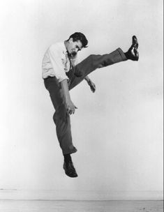 "Anthony Perkins From ""Philippe Halsman's Jump Book"" (1959) — reissued by Abrams (1986)."