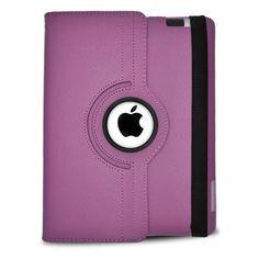 Apple iPad 3 Standing 360 Degree Purple Leather Case for sale online Ipad 4, New Ipad, Ipad Case, Phone Accesories, Purple Leather, Black Leather, Apple Products, Leather Material, Apple Ipad