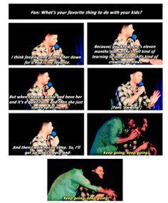 awww Jared hugging Jensen - Supernatural DCCon - J2 talk about their Kids