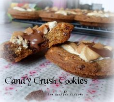 Candy Crush Cookies (Chocolate chips, crushed biscuits, crispies, broken chocolate bars, marshmallows and fudge bits)