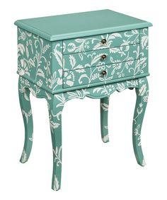 Look at this #zulilyfind! Teal Three Drawer Cabinet #zulilyfinds