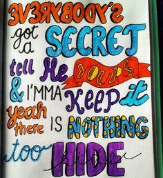Lyrics Drawing of Secret by Austin Mahone