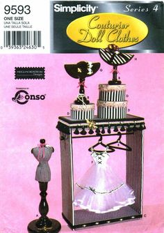 Simplicity 9593 Fashion Doll Display Accessories by patternshop, $34.99