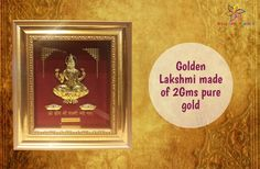 Make your ‪#‎poojaroom‬ more sacred! Purchase Golden Lakshmi made of 2Gms pure gold at ‪#‎BringHomeFestival‬ ‪#‎OrderNow‬