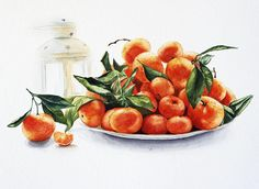 Orange candle Print Watercolor PRINTABLE ART Instant Digital Download Digital Food illustration Home decor Wall decor Post Card Watercolor by MariaMishkareva on Etsy