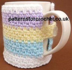 Free crochet pattern mug cozy usa