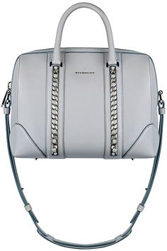 Givenchy spring summer 2014 pre-collection - Medium Lucrezia bag in grey  grained leather with chains 1d969cac70c2b