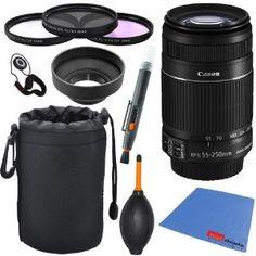 Canon EF-S 55-250mm f/4.0-5.6 IS II Telephoto Zoom Lens (Import) for Canon EOS 7D, 60D, EOS Rebel SL1, T1i, T2i, T3, T3i, T4i, T5i, XS, XSi,...