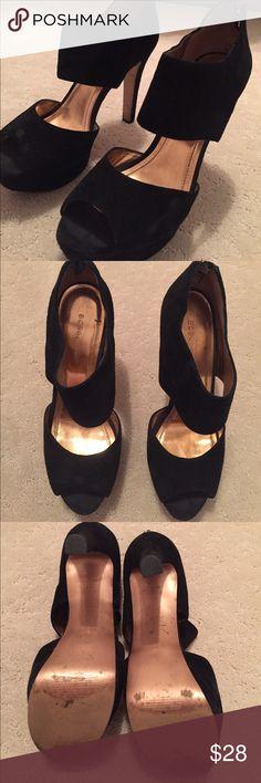 Black Suede Pumps Black BCBG pumps! Perfect year round. Price accounts for wear. BCBG Shoes Heels