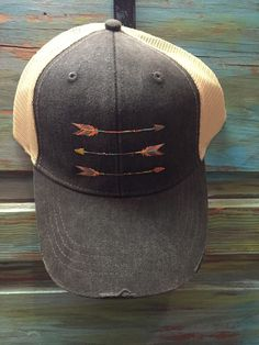 Embroidered Distressed Trucker Hats