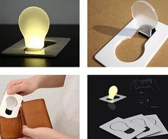 With the LED Wallet Card Light that got the same size as a credit card and you can take it everywhere with you, you will never be stuck in the card anymore! Genius!