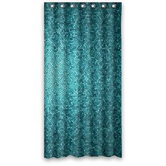 You-bi Stylish Mosaic Teals Aquas Lagoon Blue Bathroom Waterproof Polyester Fabric Shower Curtain by ** You can find out more details at the link of the image. (This is an affiliate link) Black White Shower Curtain, Teal Shower Curtains, Shower Curtain Sizes, Plastic Hangers, Thing 1, Blue Lagoon, Tardis, Bath Tubs, Curtain Fabric