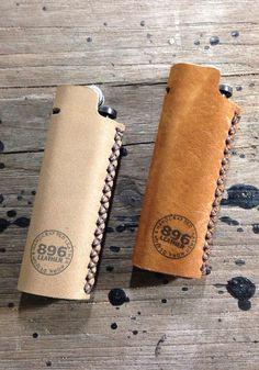 Beige leather lighter case Lighter cover by 896LeatherShop on Etsy