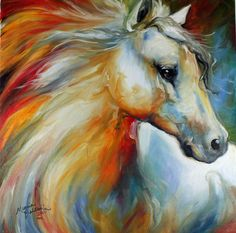 HORSE ANGEL NO 1 an original oil painting by Equine Artist Marcia ...