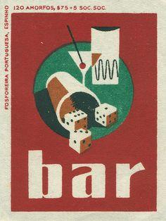 Portuguese matchbox label