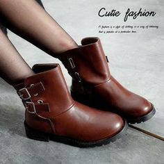 Buy 'CUTIE FASHION – Belted Fleece-Lined Boots' with Free International Shipping at YesStyle.com. Browse and shop for thousands of Asian fashion items from Taiwan and more!
