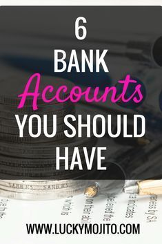 Here are the 6 bank accounts you should have if you want to be debt-free, track you money, save, invest, and more. Protect your finances by telling your money where to go. #money #savings #budget #accounts #finances #emergency #funds