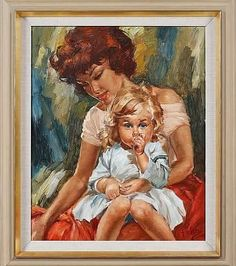 Nytt flott oljemaleri av Charles Roka 😊 #charlesroka #art #kunst #vintage #interiør #retrointeriør #midcentury #kitsch #gipsygirl #gipsywoman #vintagekitsch #retrohjem #retrointerior #506070tallet #506070tal #retro #oljemaleri#morogdatter #morogbarn IKKE TIL SALGS. NOT FOR SALE. Gipsy Woman, Mother And Child, Kitsch, Mona Lisa, Paintings, Tags, Children, Artwork, Instagram