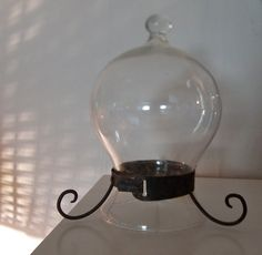 Gorgeous vintage glass pendant lamp/shade by kipperbone on Etsy, £35.00