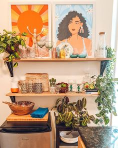 """Amanda 🌿 Colorful Boho Home on Instagram: """"Okay y'all have been telling me to take the glass out of frames to get a better shot & you were not wrong! Check out this side by side with…"""""""